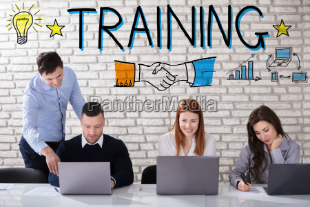 businessman, giving, training, to, his, coworker - 22721229