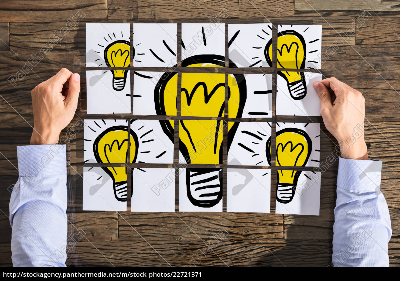 businessman, with, light, bulb, drawing - 22721371