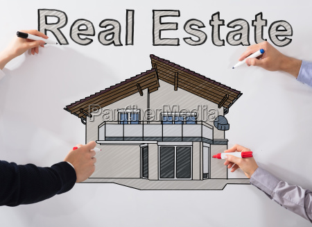 hands, drawing, real, estate, drawing - 22721331