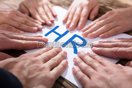 hands, on, paper, showing, hr, concept - 22721311