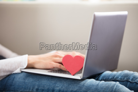 person, using, laptop - 22721935