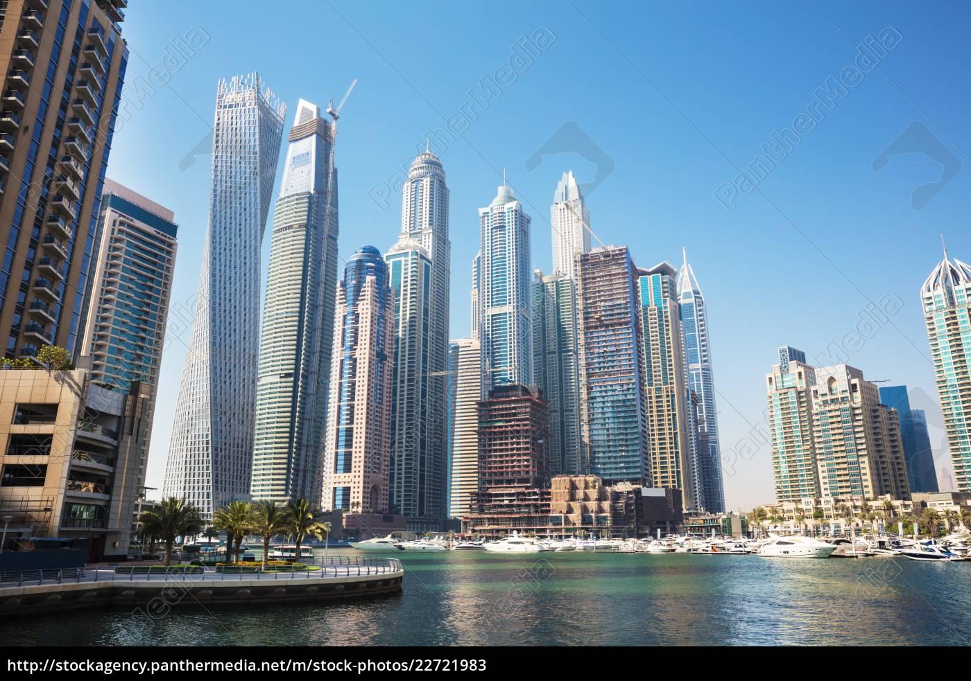 skyscrapers, in, dubai, marina - 22721983