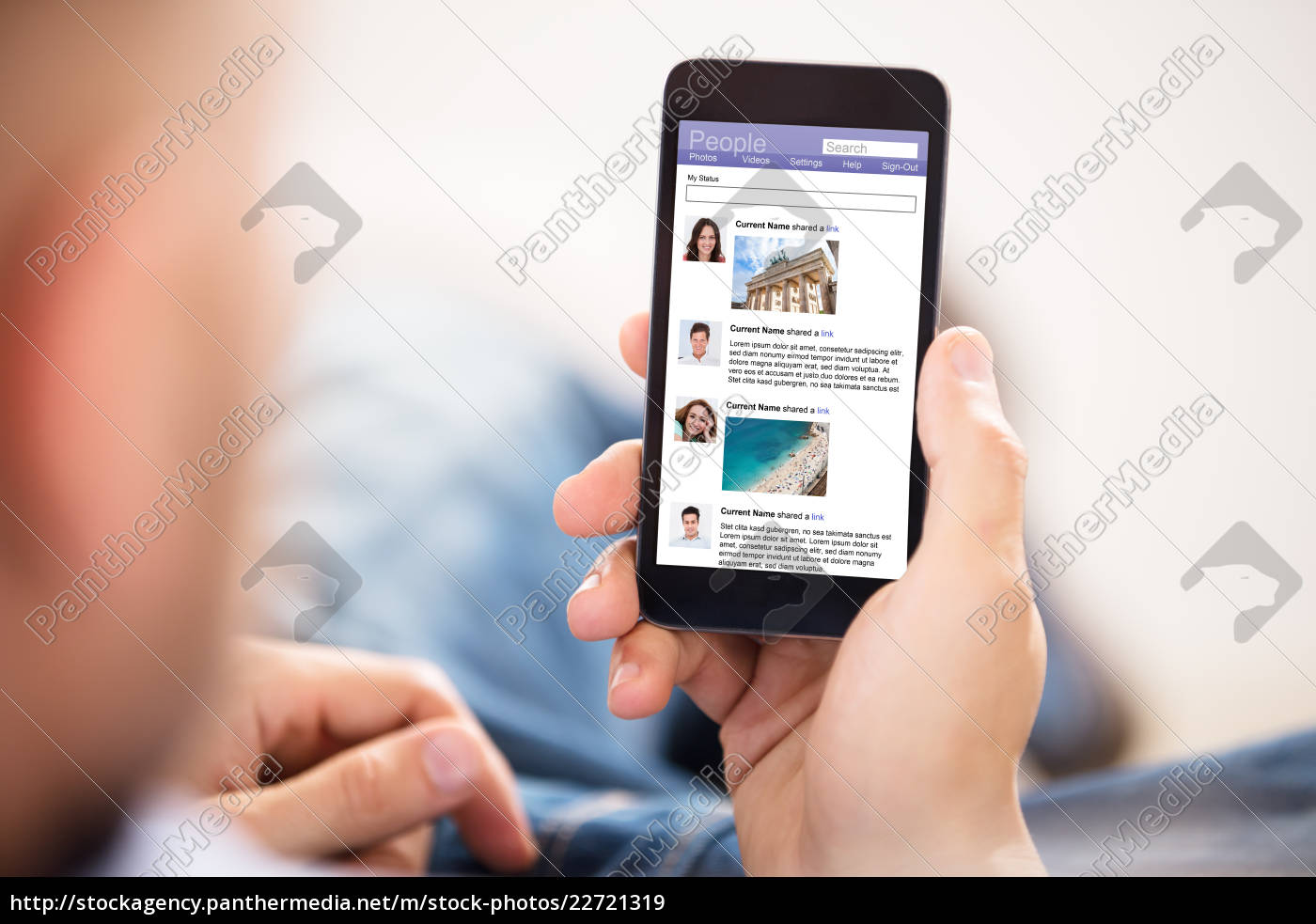 using, social, networking, site - 22721319