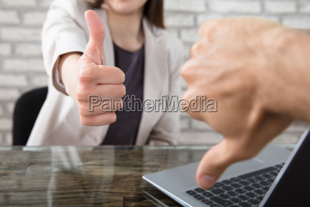 business, partner, showing, thumbs, up, and - 22722087