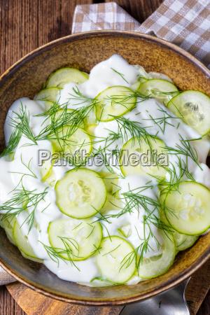 fresh, cucumber, salad, with, yogurt, and - 22722429