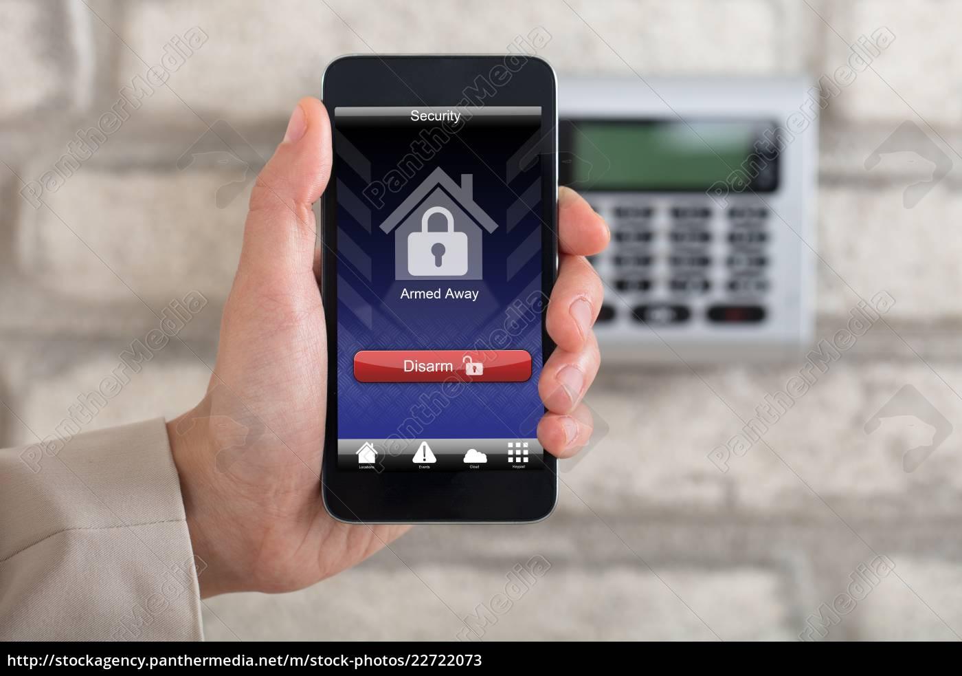 hand, disarming, security, system, of, door - 22722073