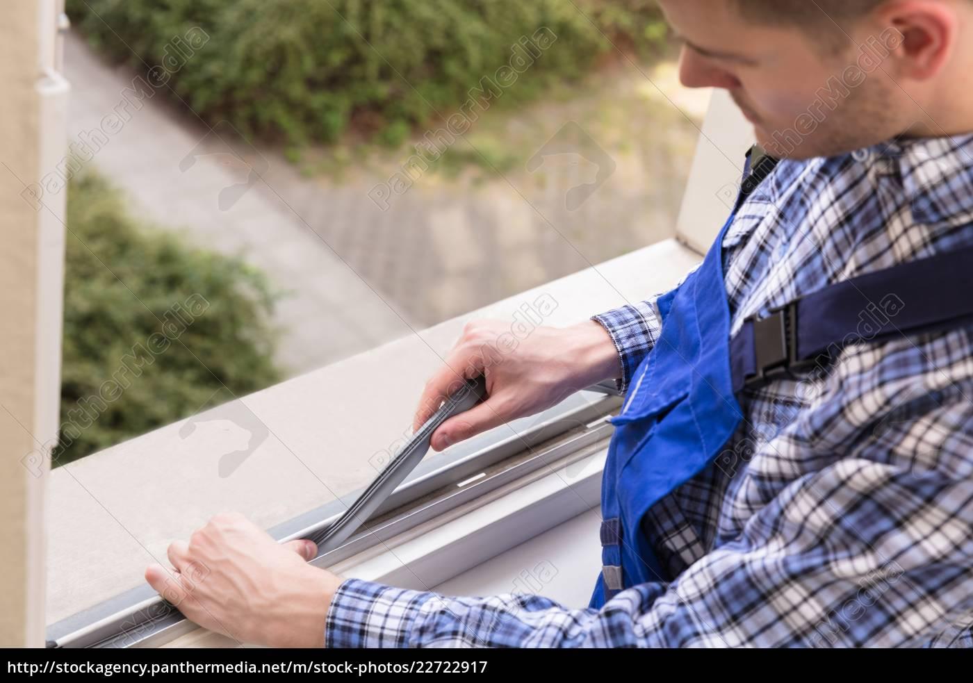 repairman, fixing, window - 22722917