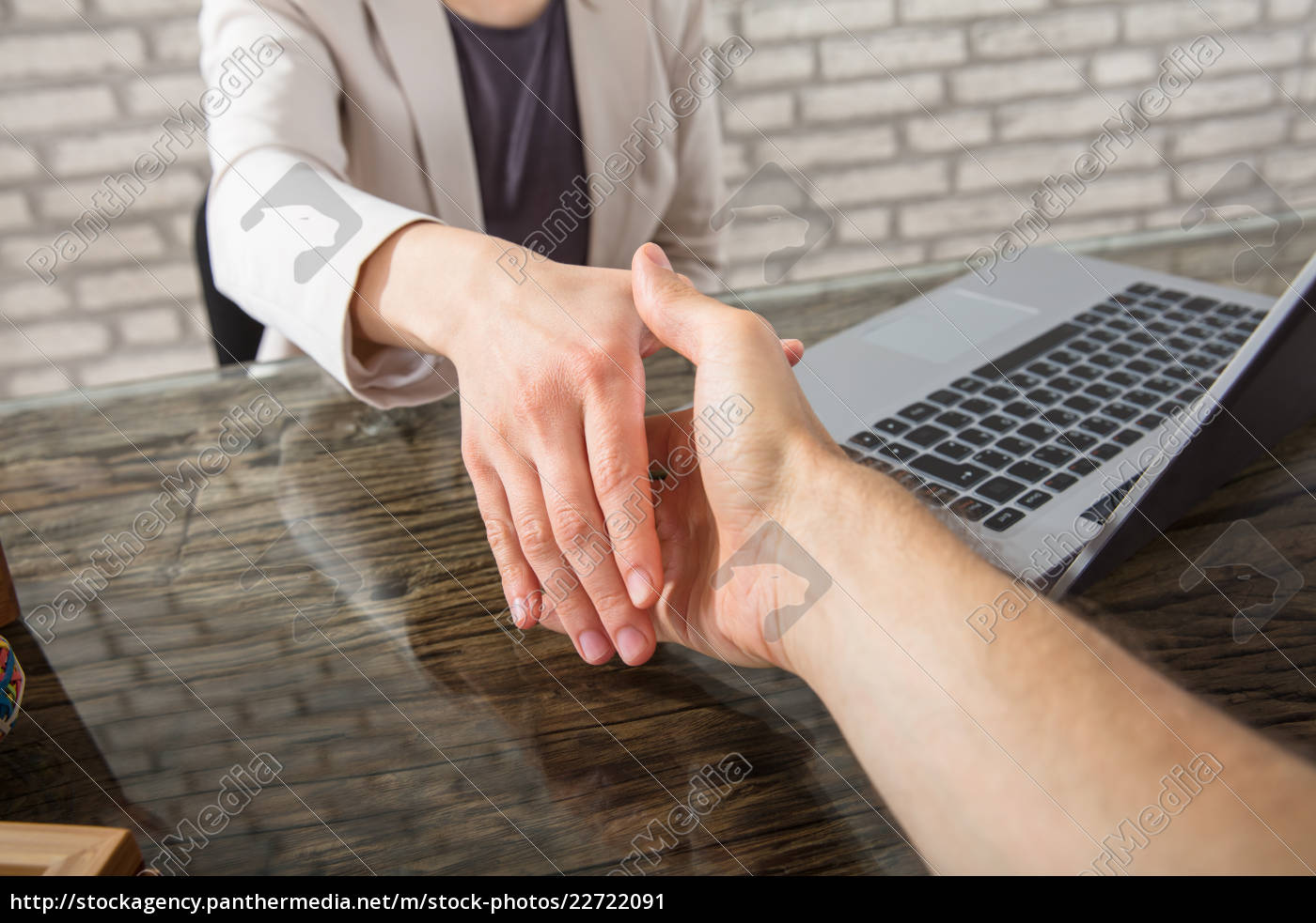 two, business, people, shaking, hands - 22722091