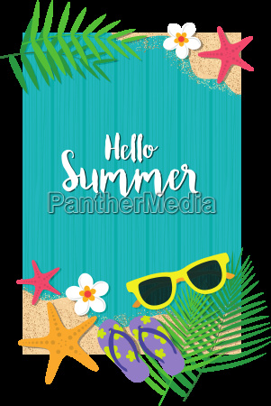 hello summer holiday background