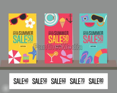 summer sale background for poster brochure