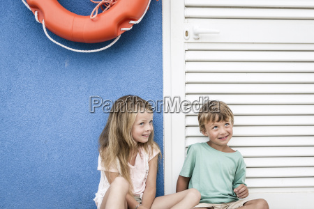 beautiful girl and boy on the