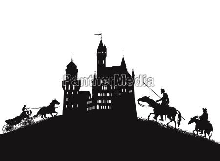 story horse fantasy illustration fortress fairy