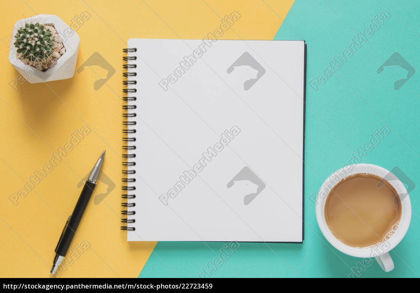 office, workplace, minimal, concept., blank, notebook - 22723459