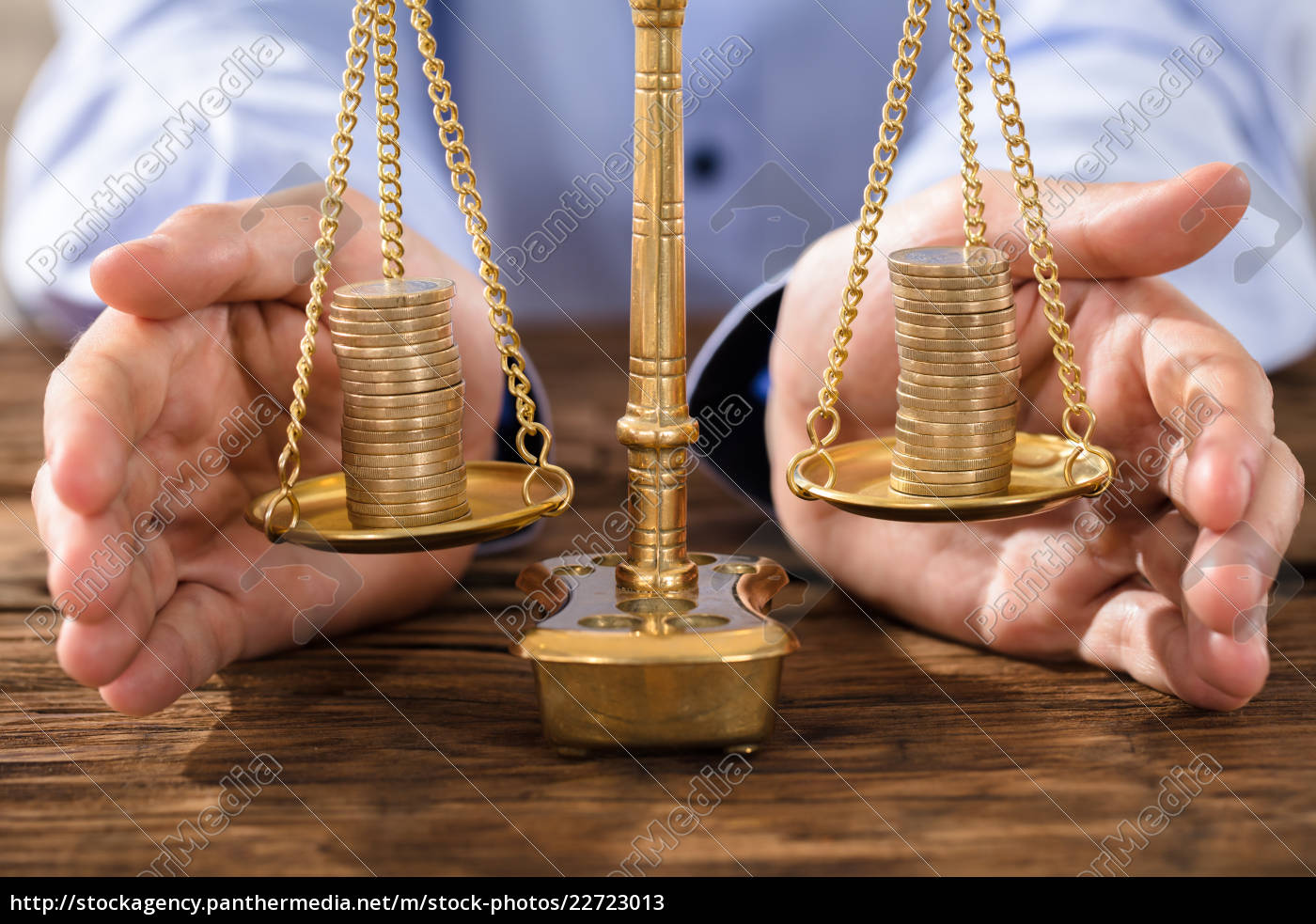 person, protecting, justice, scale, with, coins - 22723013