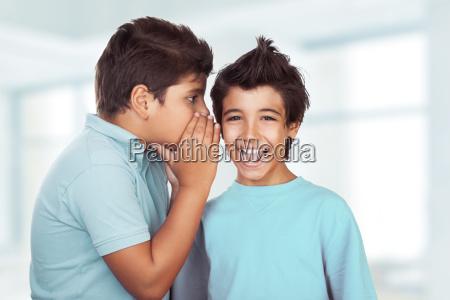 two, happy, boys, gossiping - 22723251