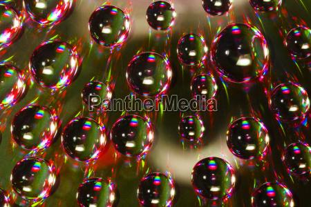 green abstract water drops