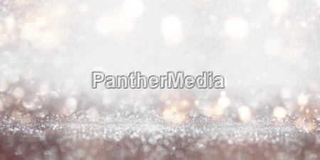 festive glittering silver bokeh background