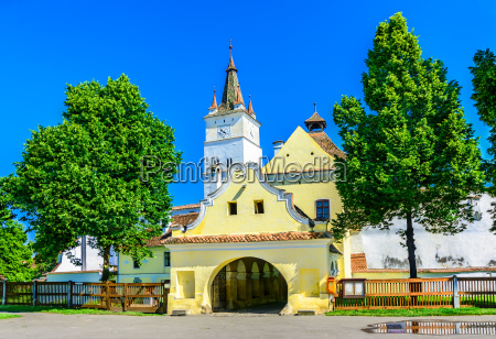fortified church of harman brasov in