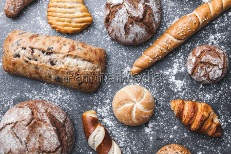 delicious, fresh, bread, on, rustic, background - 22727543