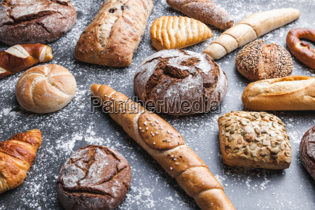 delicious, fresh, bread, on, rustic, background - 22727545