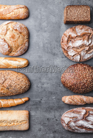 delicious, fresh, bread, on, wooden, background - 22727501
