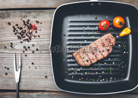 delicious, grilled, steak, with, seasoning, on - 22727495