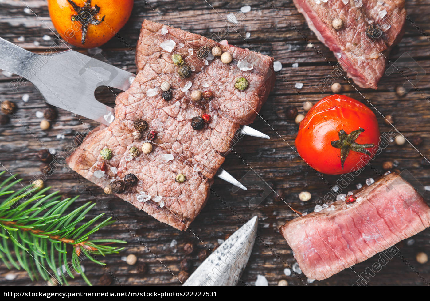 delicious, grilled, steak, with, seasoning, on - 22727531