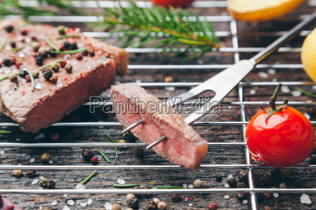 delicious, grilled, steak, with, seasoning, on - 22727561