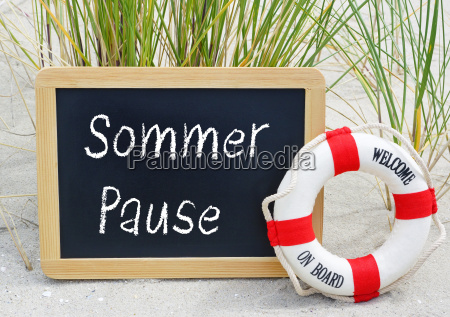summer pause chalkboard with rescue