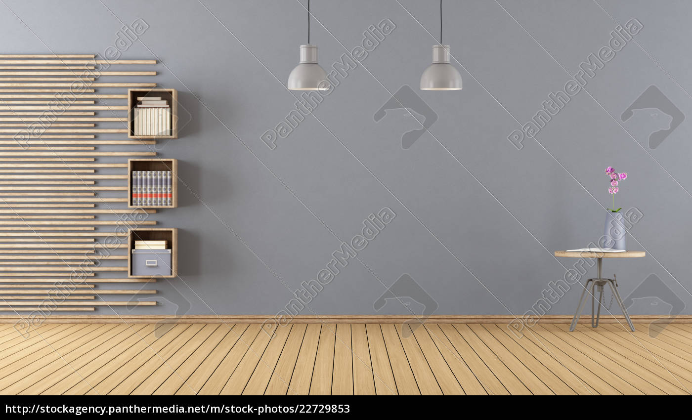 empty, room, with, little, bookcase - 22729853