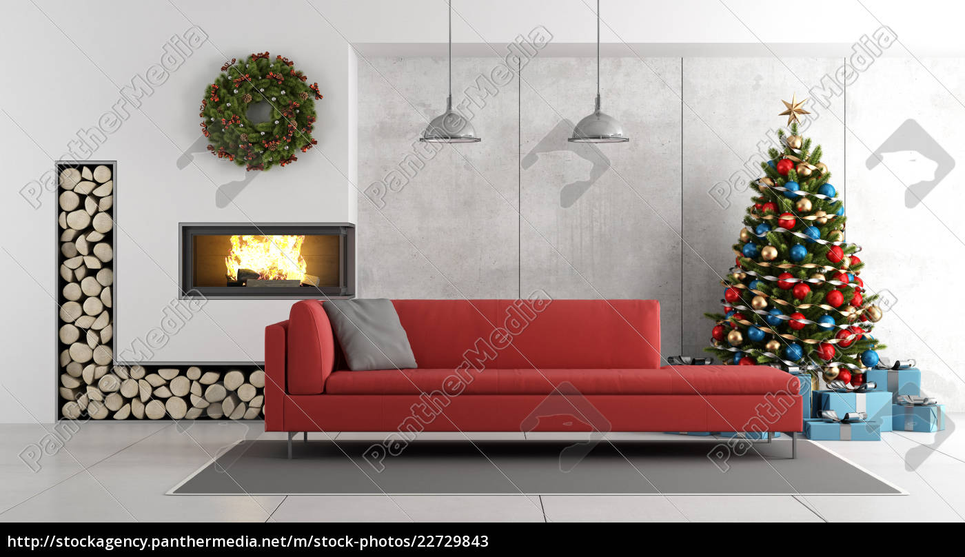modern, living, room, with, fireplace, and - 22729843