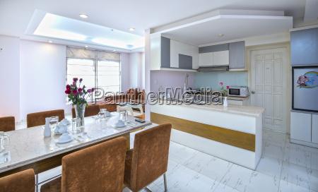 modern dining room kitchen in luxury