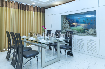 modern living room in luxury apartments
