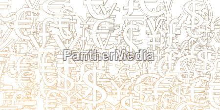 currency signs background pattern