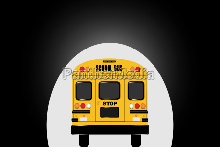 school bus passing through the tunnel