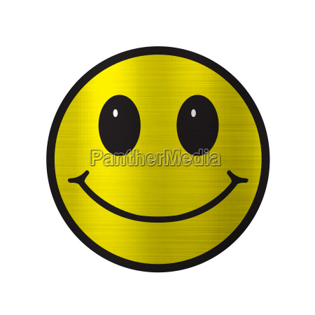 smile illustration yellow metallic