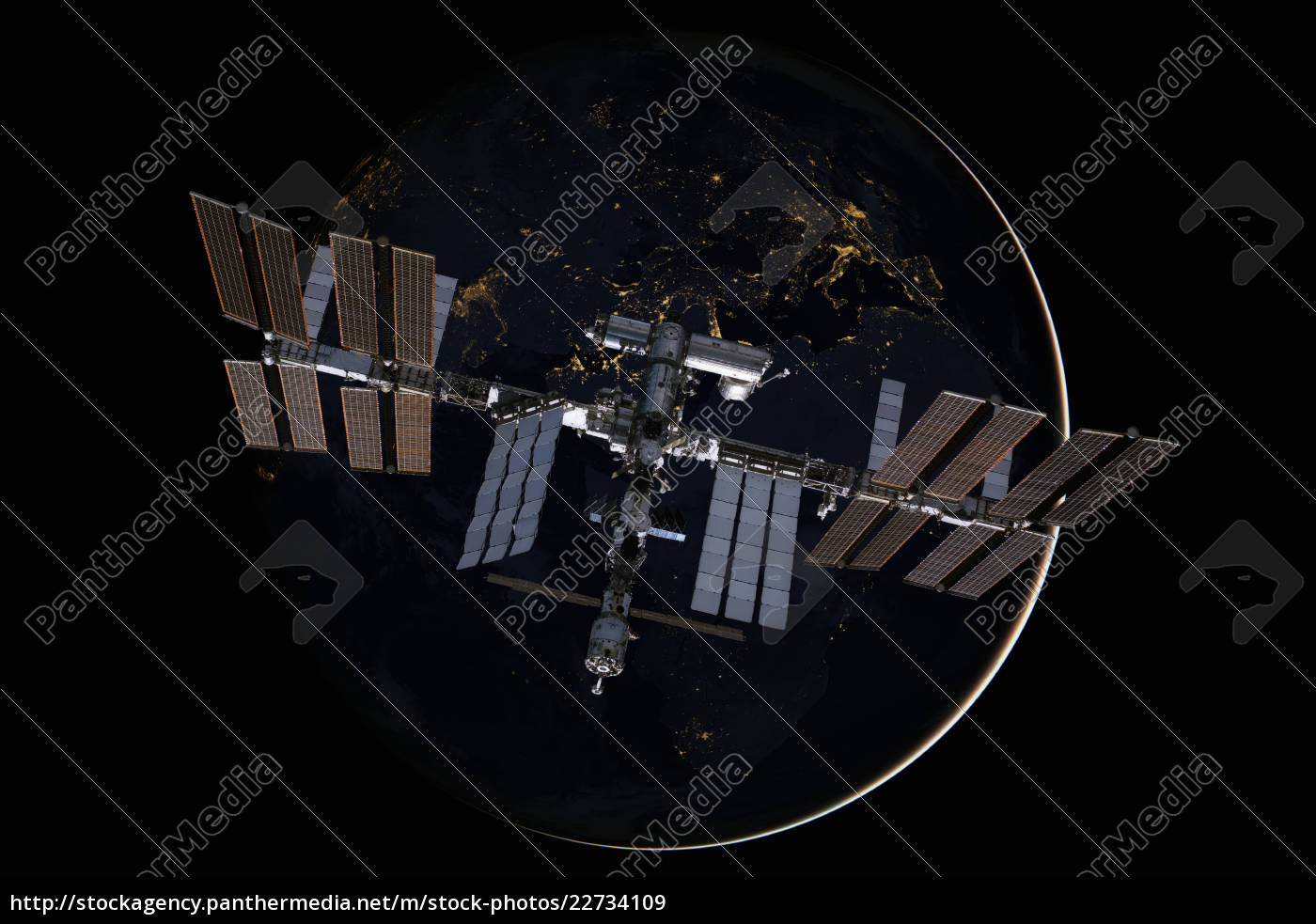 international, space, station, over, the, planet - 22734109