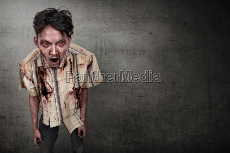scary, and, bloody, asian, zombie, man - 22738321