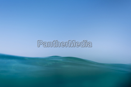 water surface against clear blue sky