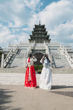 south korea seoul tow women wearing