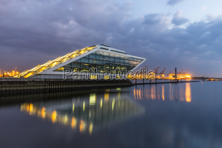 germany hamburg office building dockland at