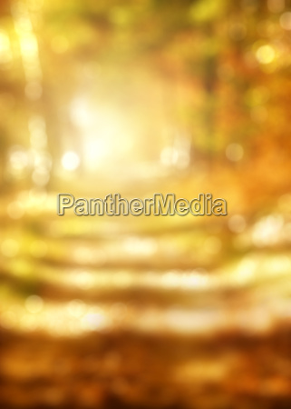 abstract background of golden autumn