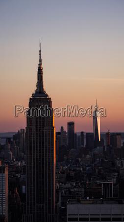 usa new york city empire state