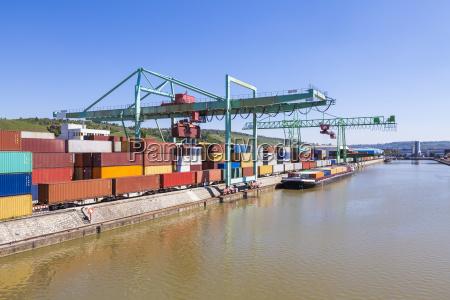 germany stuttgart neckar container harbor