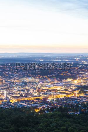 germany lighted city view of stuttgart