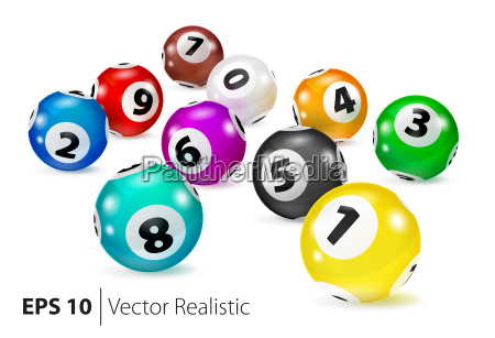 vector colorful bingo balls lie in