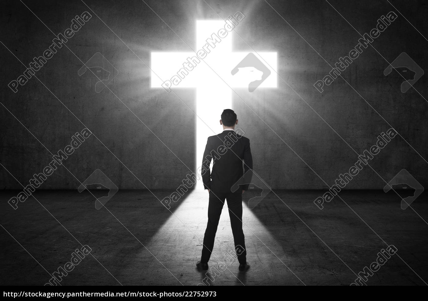 business, man, looking, the, shining, cross - 22752973