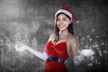 beautiful, santa, woman - 22753067