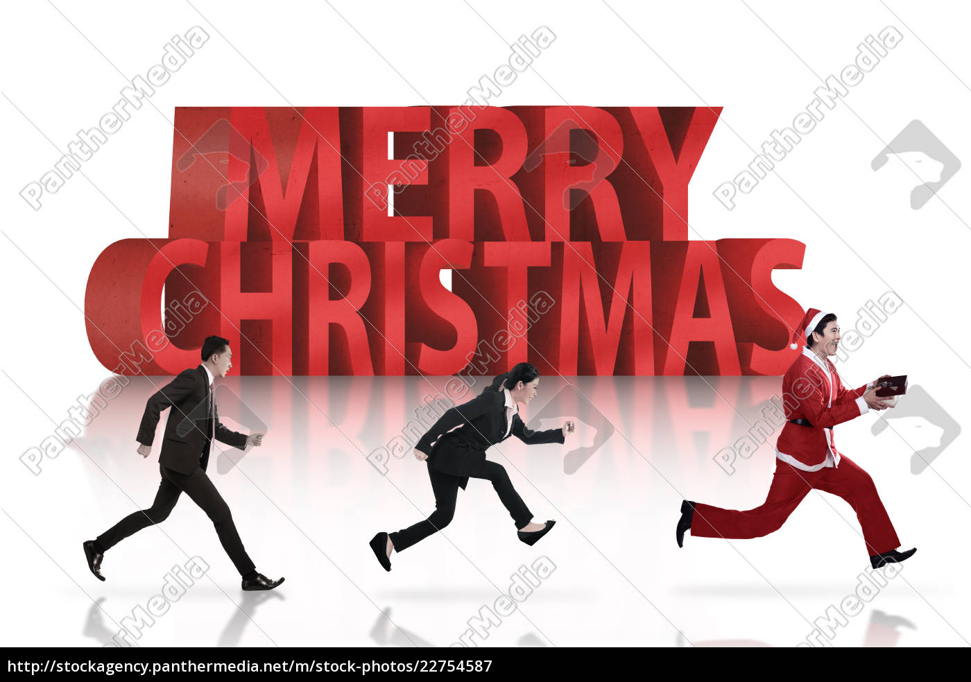 business, people, chasing, santa, claus - 22754587