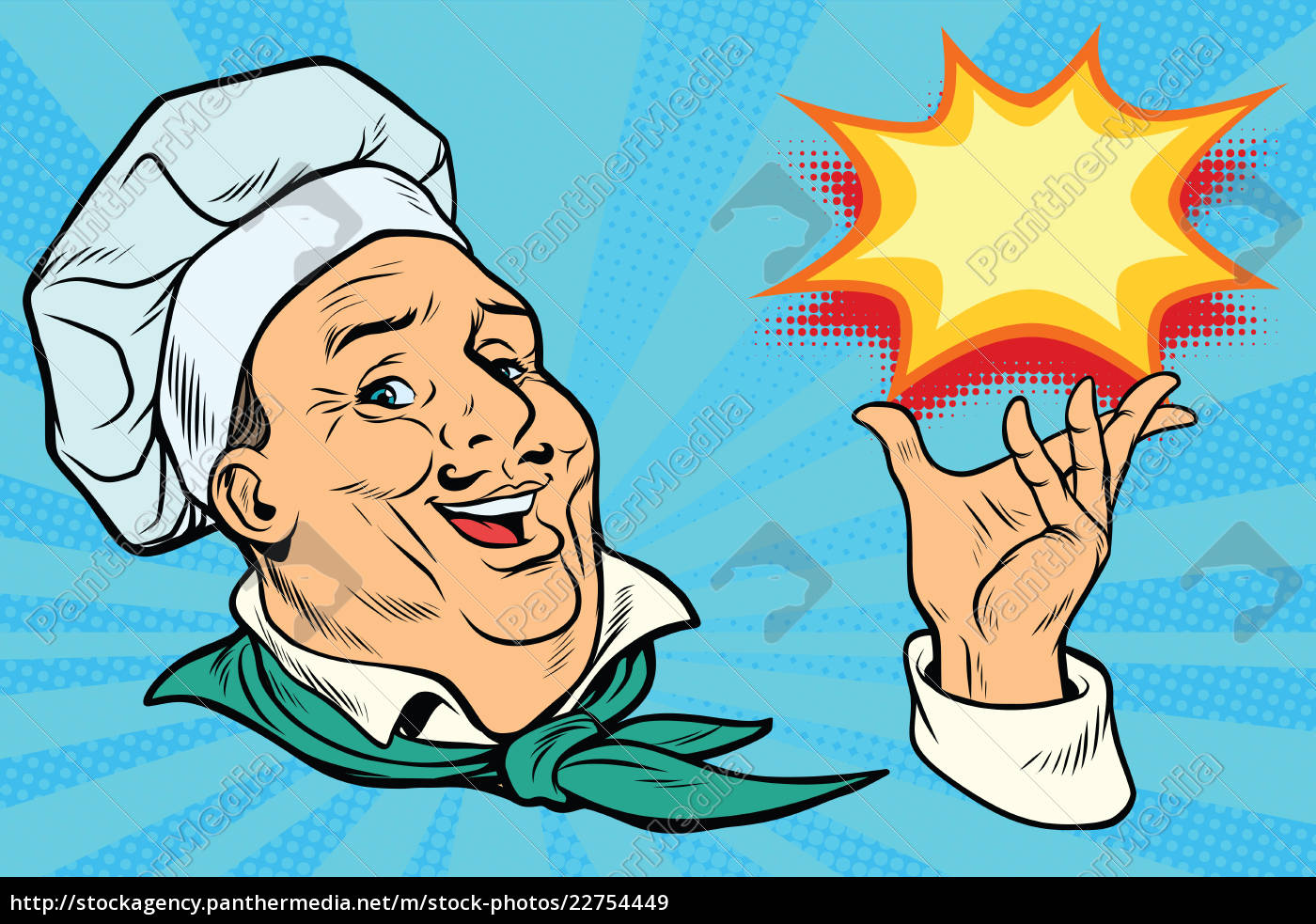 chef, holding, hand, gesture - 22754449